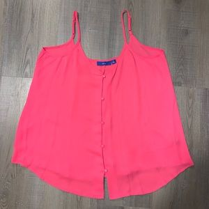 NEW button down loose camisole | hot pink 💕